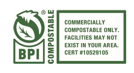 Compostable in Industrial Facilities –Certificated by BPI, Itscompostable